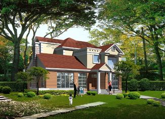中国 プレハブの軽いゲージの鉄骨構造の別荘、鋼鉄プレハブの家 サプライヤー
