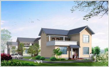 中国 2 つの物語の軽い鋼鉄は Woden の家、生存のための白いプレハブの鋼鉄家を組立て式に作りました 代理店