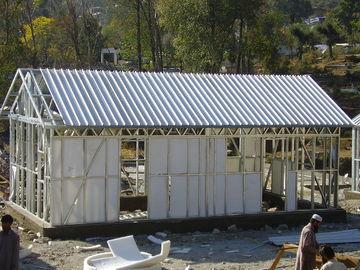 中国 速い生存のためのプレハブの小さい鉄骨フレームの家/携帯用オーストラリアのおばあさんの平たい箱を組み立てて下さい 代理店