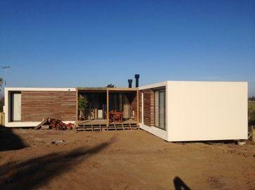 鉄骨構造の現代プレハブの家、ウルグアイのバンガローの家は計画します