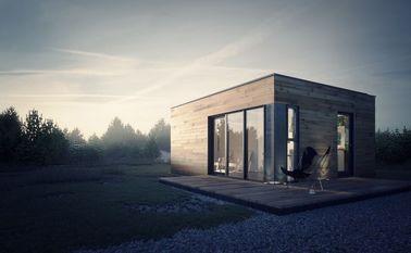プレハブの家の軽い鉄骨フレームの貯蔵を用いるプレハブの庭のスタジオ